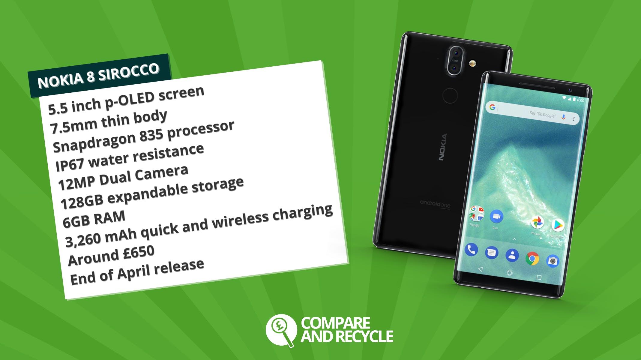 Nokia-8-sirocco-specsheet