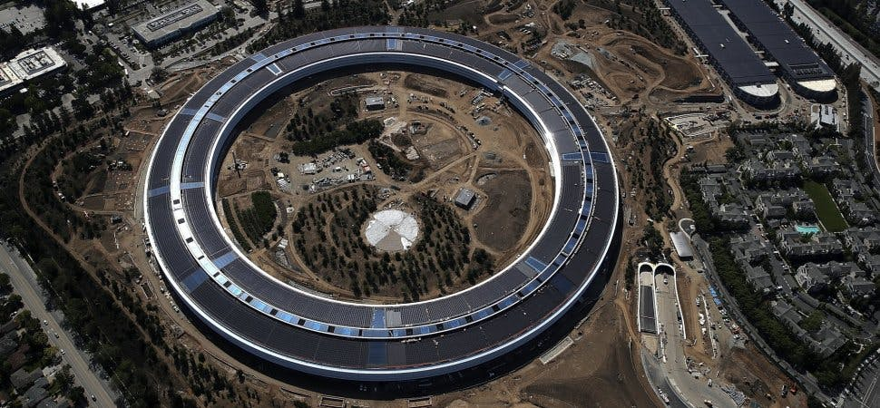Apple Park in Cupertino - the corporate headquarters of Apple Inc.