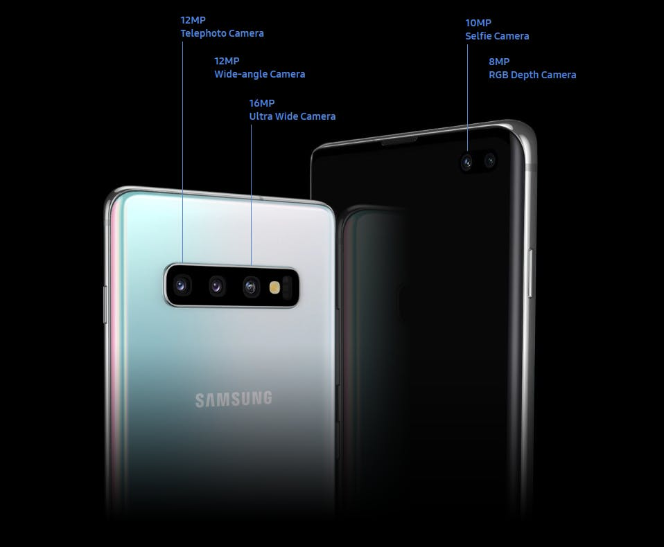 The Galaxy S10 Plus comes with 5 camera lenses in total Source: Samsung