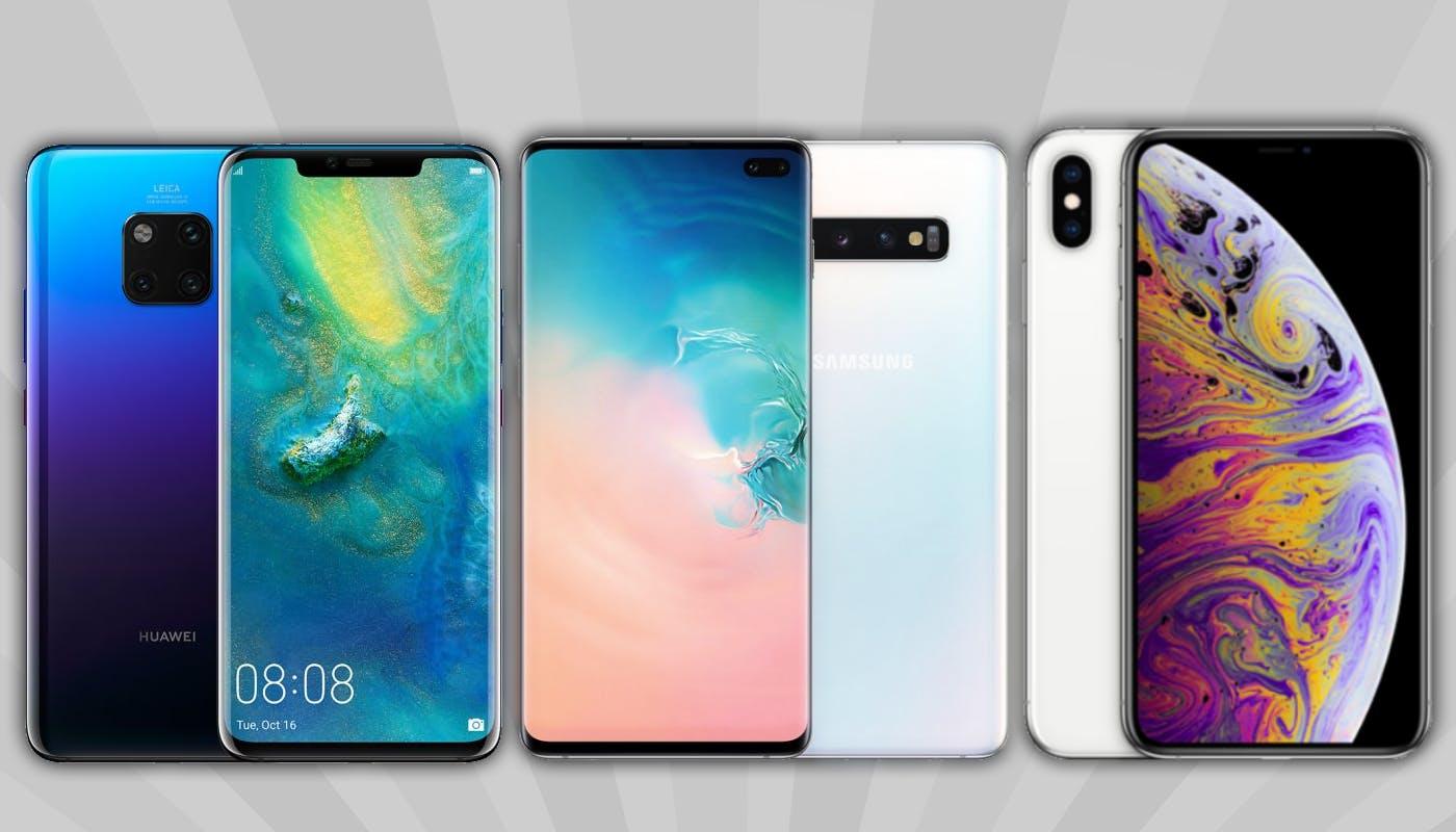 Huawei Mate 20 Pro vs Samsung Galaxy S10 Plus vs Apple iPhone XS Max