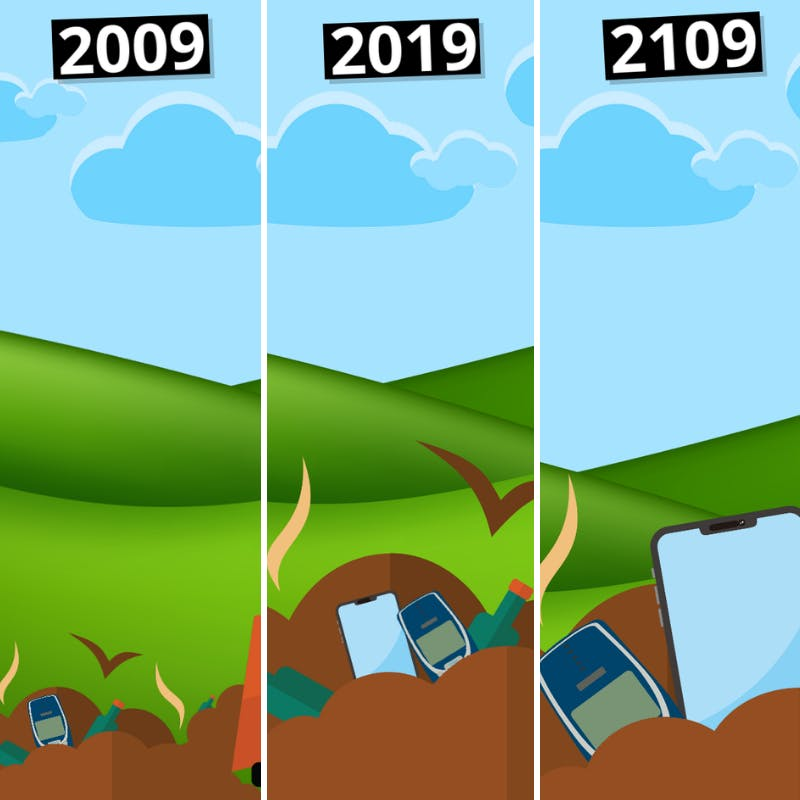 Electronic devices seem like they were made to resist decomposition...forever.
