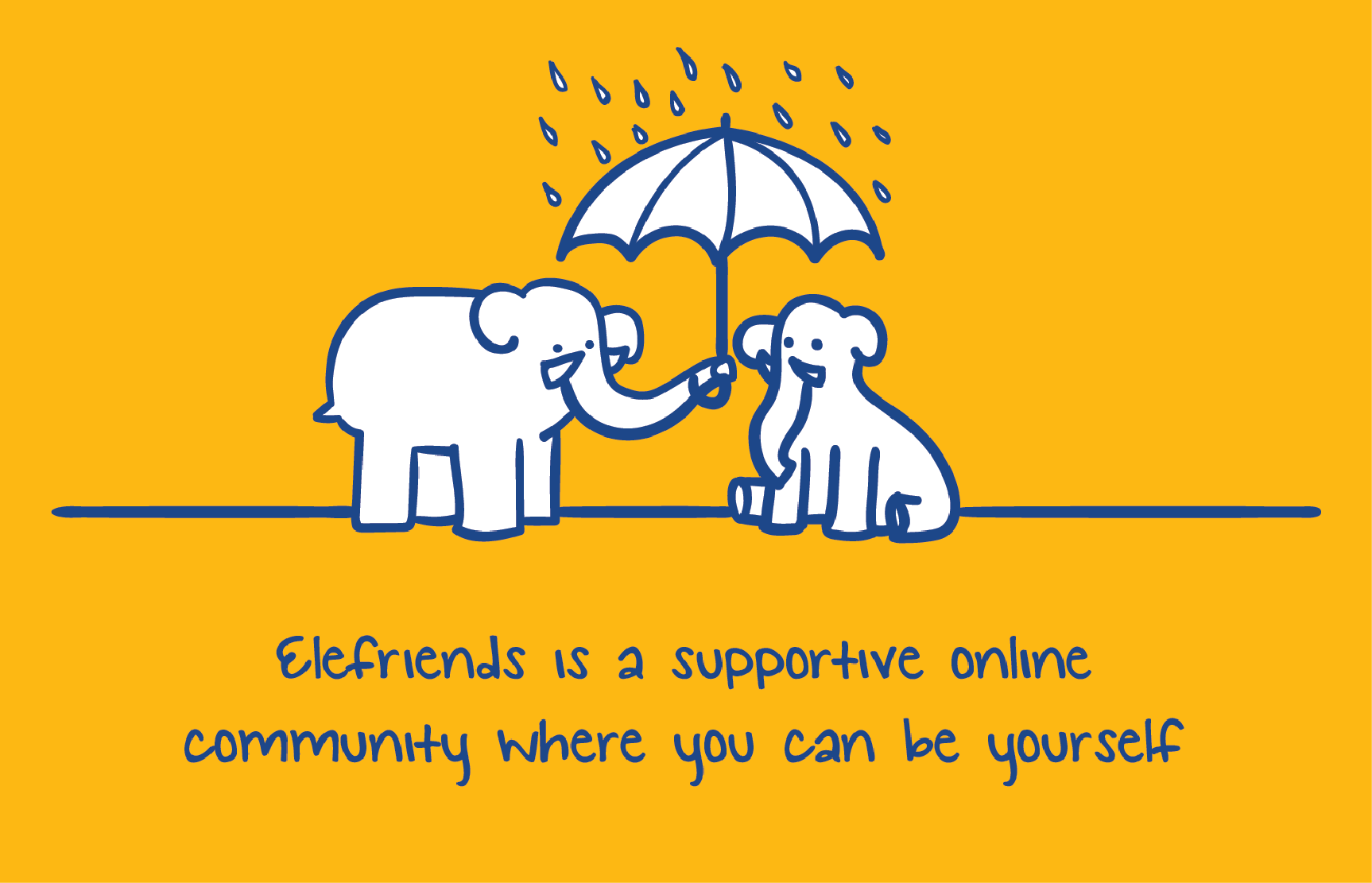 Elefriends is an app created and monitored by Mind