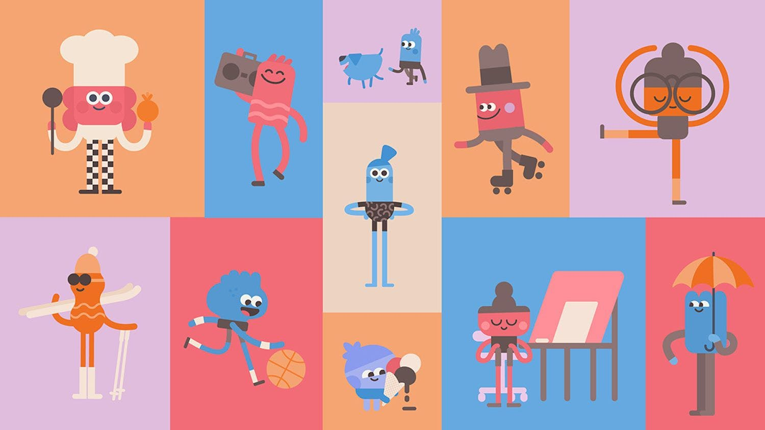 Headspace's animations have a distinctive style which many users will find visually appealing