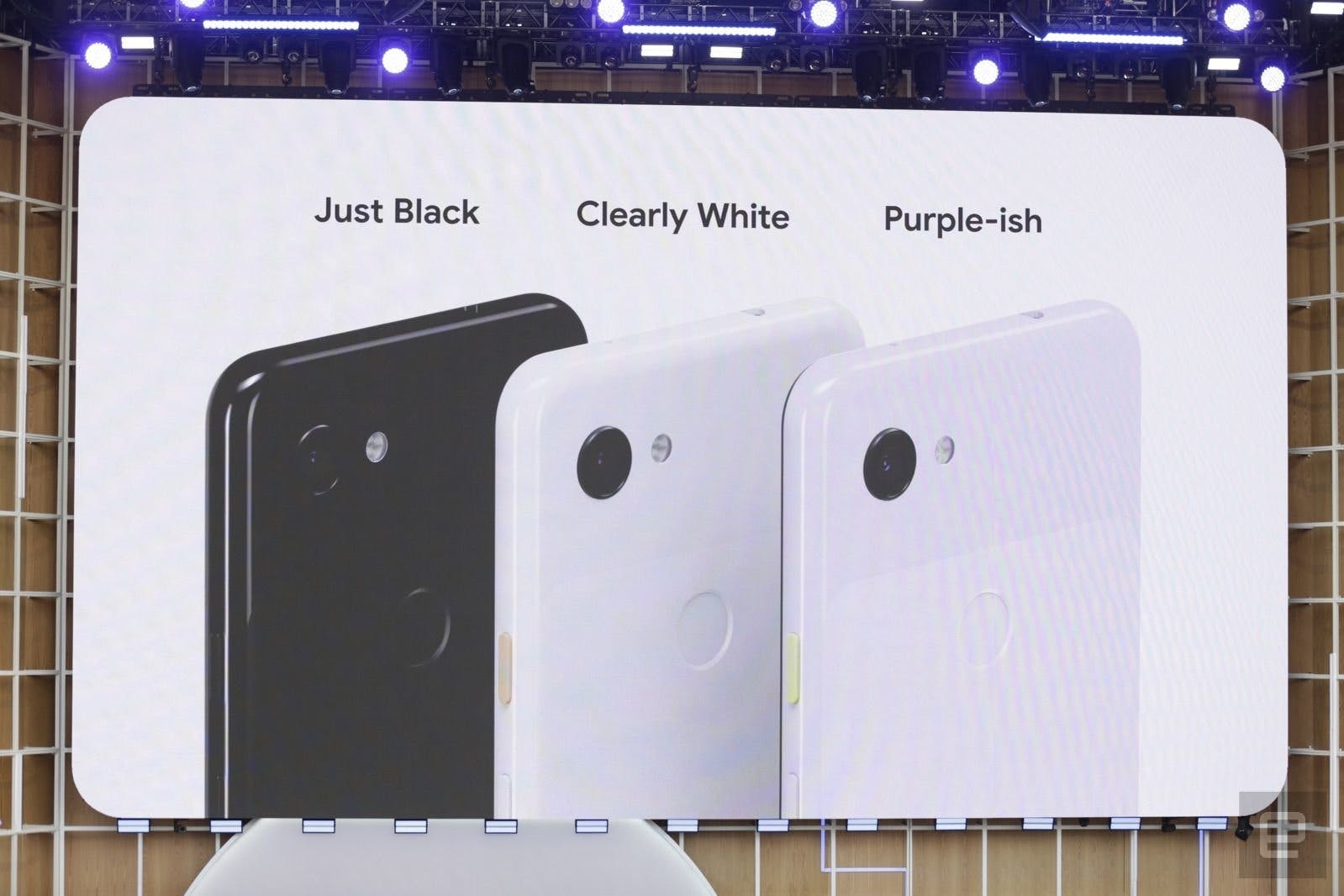 The three colour variants of the Pixel 3a and Pixel 3a XL
