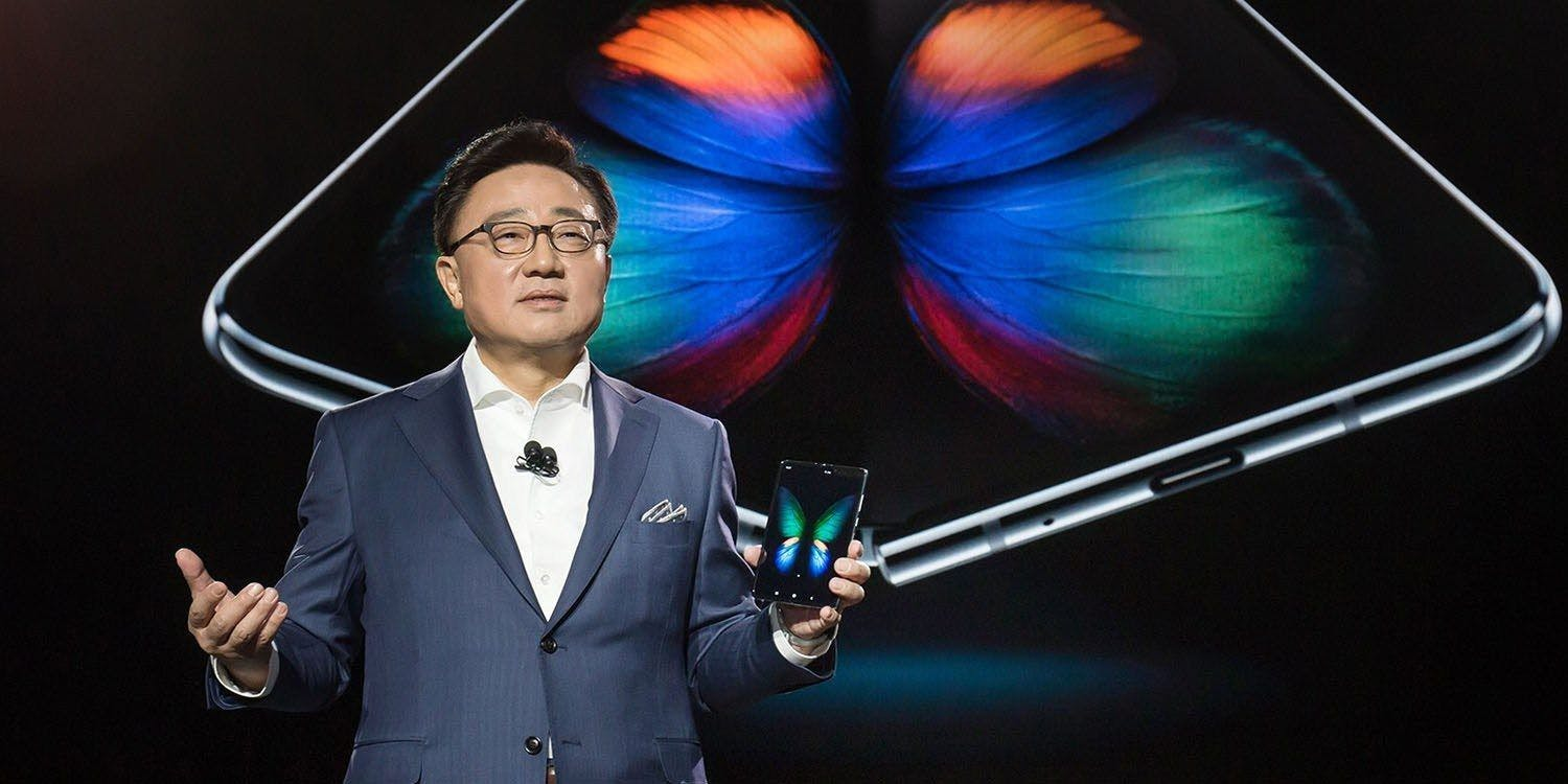 Samsung CEO Koh Dong Jin presenting the Samsung Galaxy Fold in San Francisco