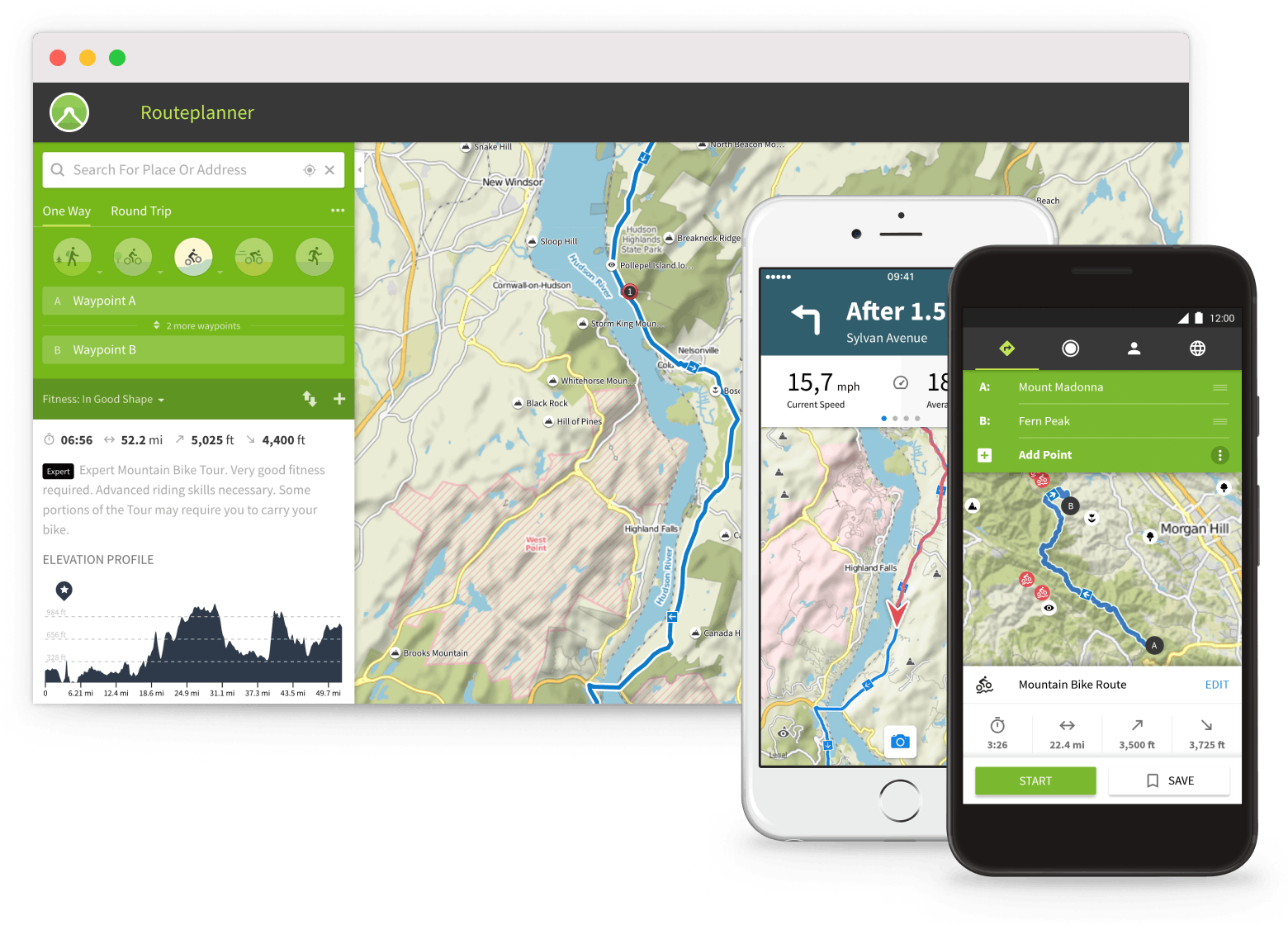 Plan a detailed route for your ride using Komoot