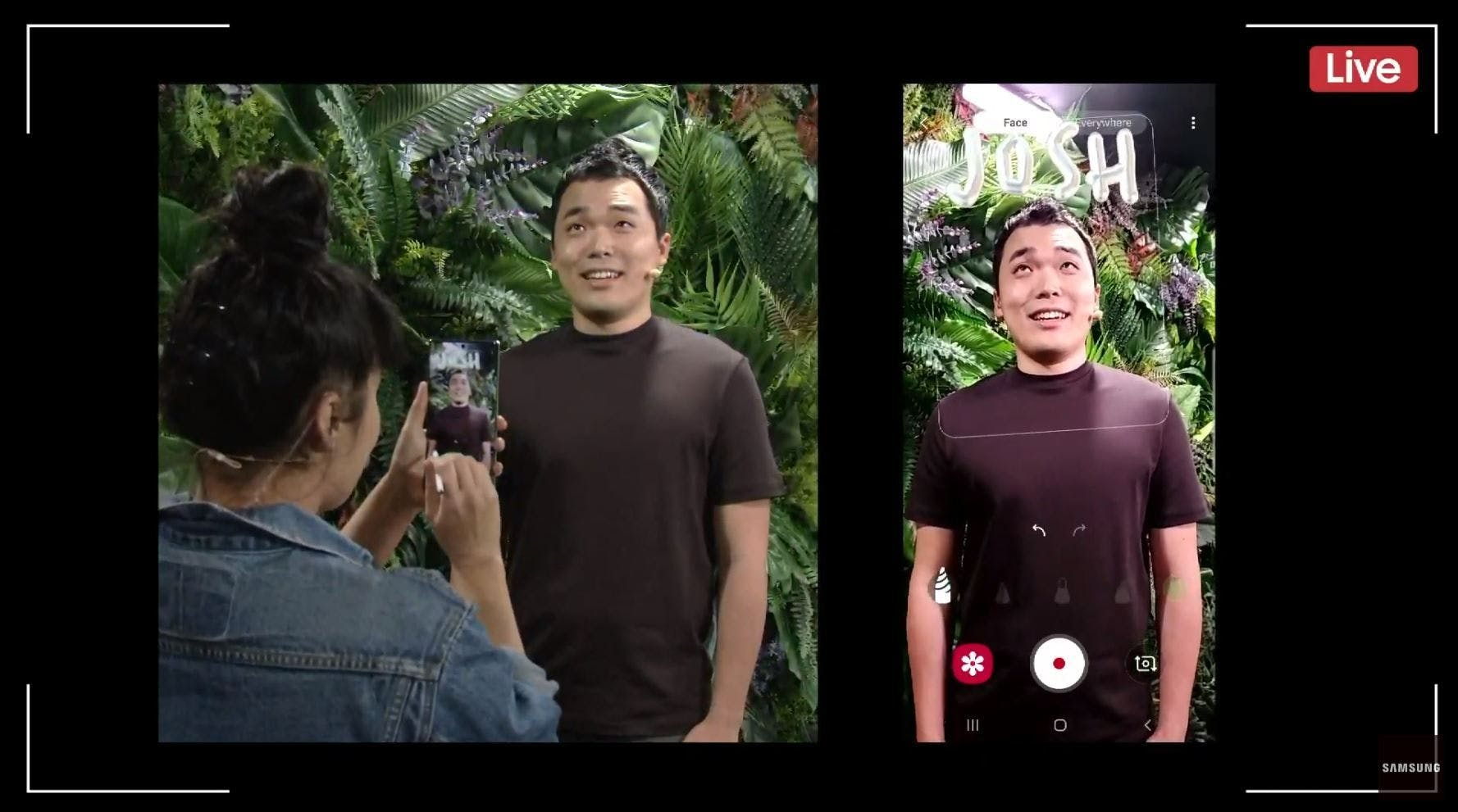 """New AR experience with Note 10 camera """"AR Doodle"""""""